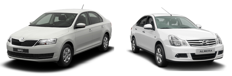 Skoda Rapid и Nissan Almera