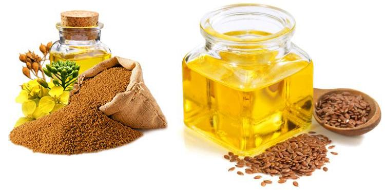Рыжиковое и льняное масло