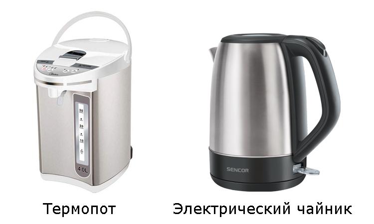 термопот и электрический чайник