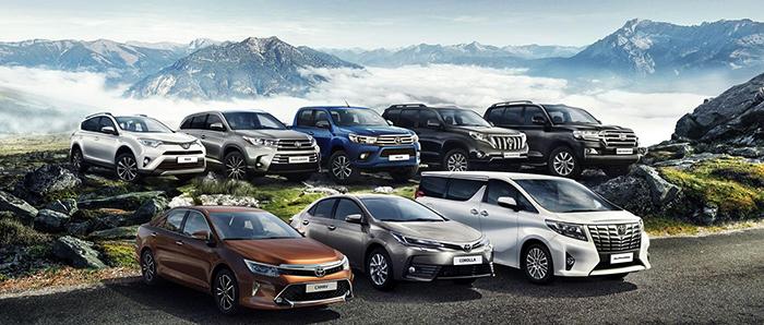 Модели марки Тойота