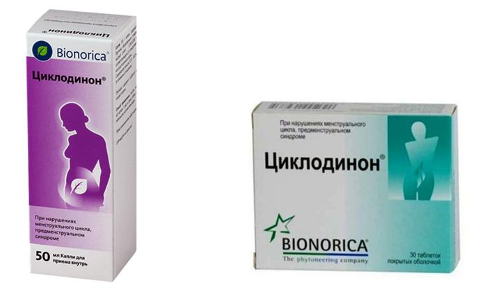 Циклодинон в каплях и таблетках