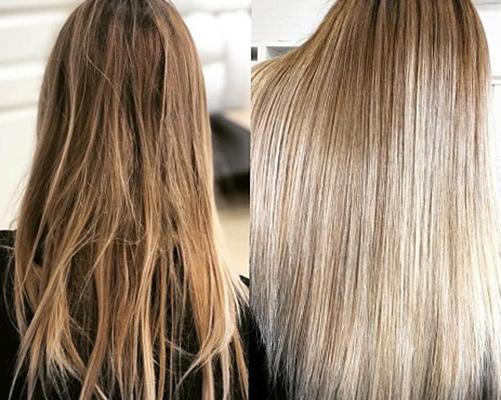 До и после счастья для волос