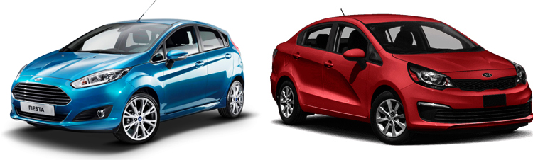Ford Fiesta и Kia Rio