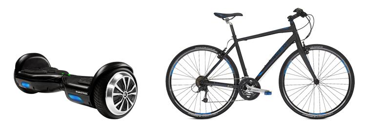Гироскутер и велосипед