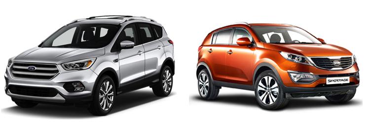 Ford Kuga и Kia Sportage