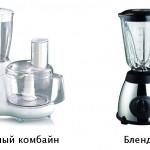 Что лучше выбрать кухонный комбайн или блендер?