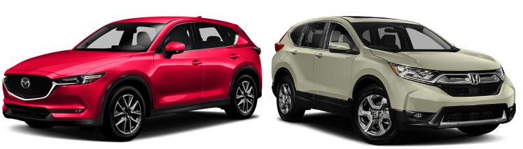 Mazda CX-5 и Honda CR-V