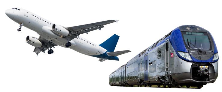 Самолет и поезд