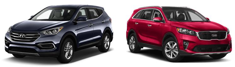 Hyundai Santa Fe и Kia Sorento