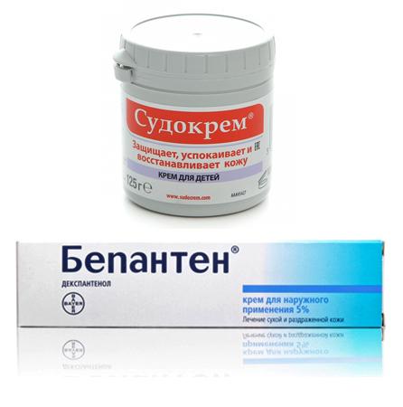 «Судокрем» и «Бепантен»