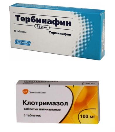 «Тербинафин» и «Клотримазол»