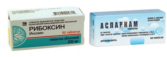 Рибоксин и Аспаркам