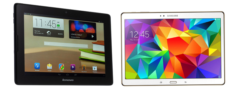 Планшеты Lenovo и Samsung