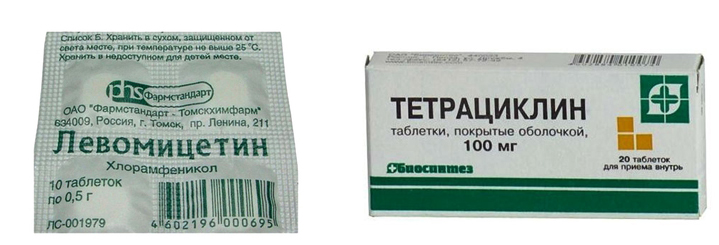 Левомицетин и Тетрациклин