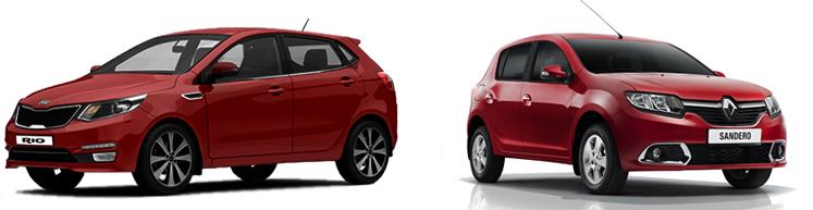 Kia Rio и Renault Sandero