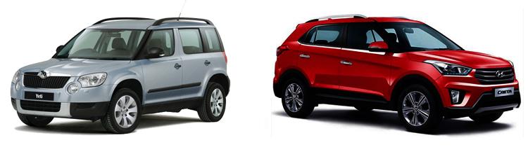 Skoda Yeti и Hyundai Creta