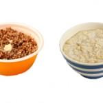 Что лучше и эффективнее для похудения гречка или овсянка