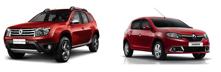 Renault Duster и Renault Sandero