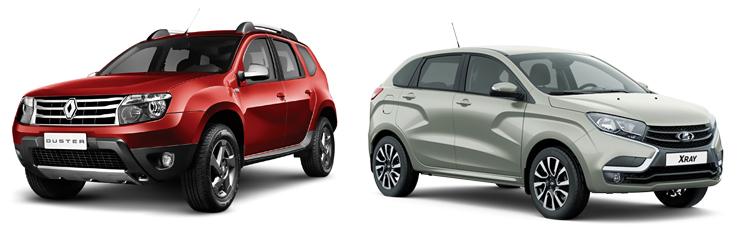 Renault Duster и Lada XRAY