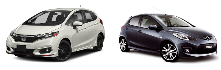Honda Fit и Mazda Demio
