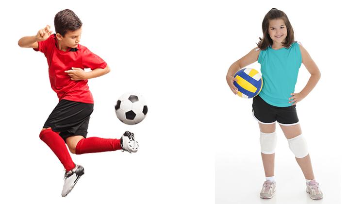 Футбол и воллейбол
