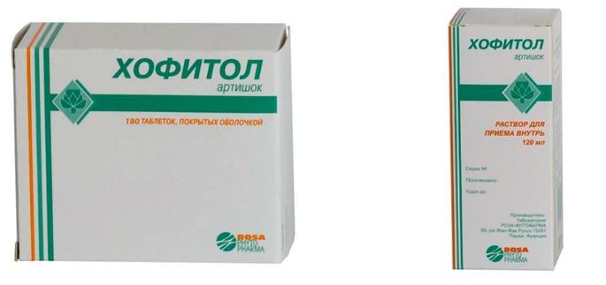 Хофитол таблетки и раствор