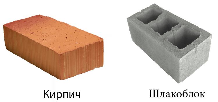 Кирпич и шлакоблок