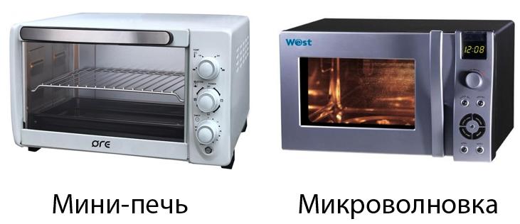 Мини-печь и микроволновка