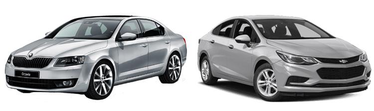 Skoda Octavia и Chevrolet Cruze