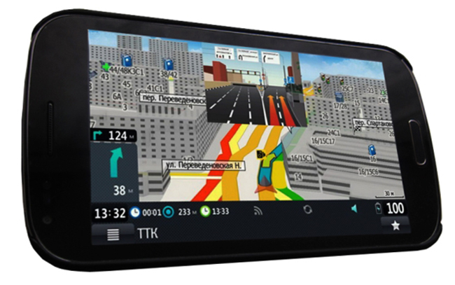 Смартфон с навигатором