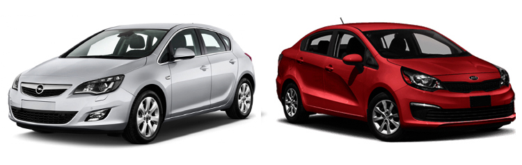 Opel Astra и Kia Rio