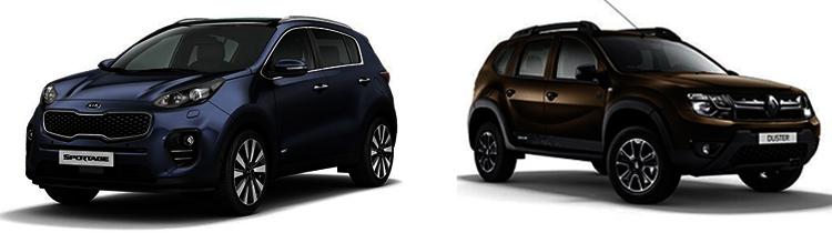 Kia Sportage и Renault Duster