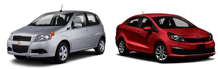 Chevrolet Aveo и Kia Rio