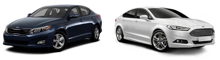 KIA Optima и Ford Mondeo