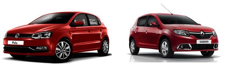 Volkswagen Polo и Renault Sandero