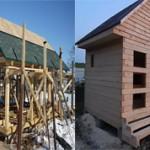 Что лучше строить каркасную баню или баню из бруса?