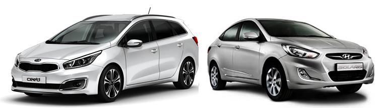 KIA Ceed и Hyundai Solaris