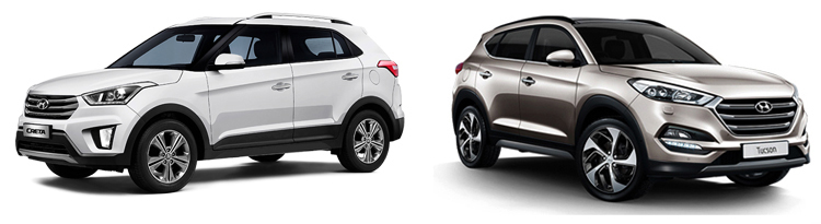 Hyundai Creta и Hyundai Tucson