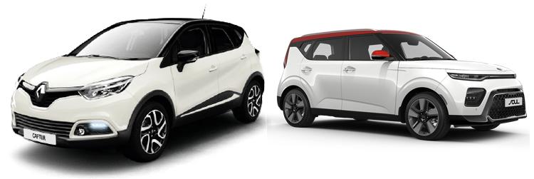 Renault Captur и Kia Soul