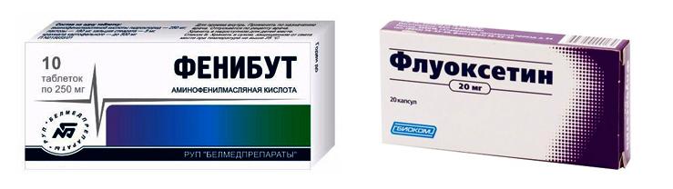 Фенибут и Флуоксетин