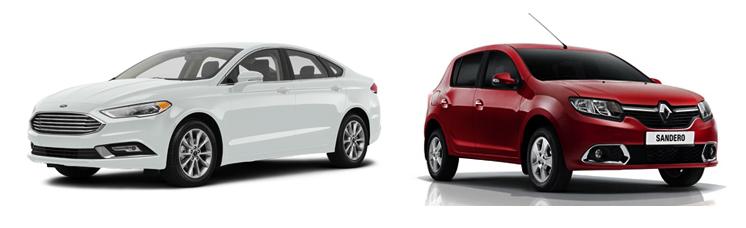 Ford Fusion и Renault Sandero