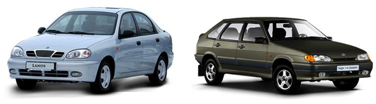 Daewoo Lanos и ВАЗ 2114
