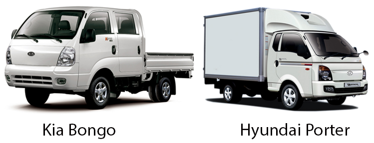 Kia Bongo и Hyundai Porter