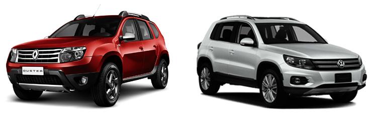 Renault Duster и Volkswagen Tiguan