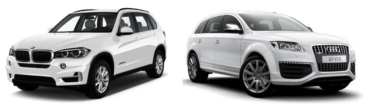 BMW X5 и Audi Q7