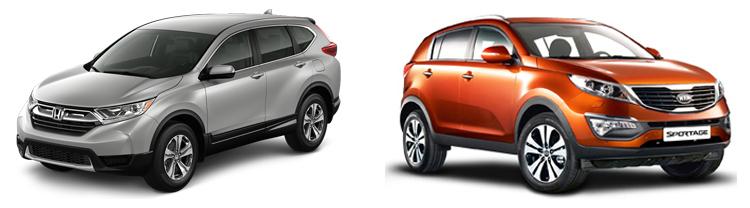 Honda CR-V и Kia Sportage