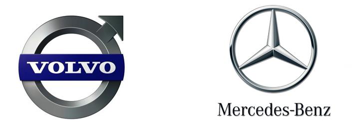 Volvo и Mercedes-Benz