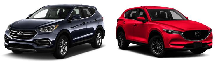 Hyundai Santa Fe и Mazda CX-5