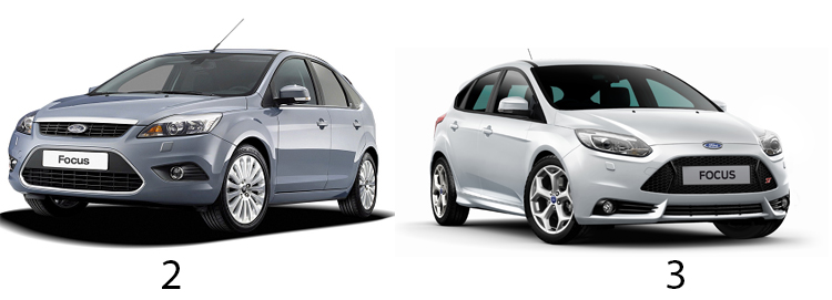 Ford Focus 2 и 3