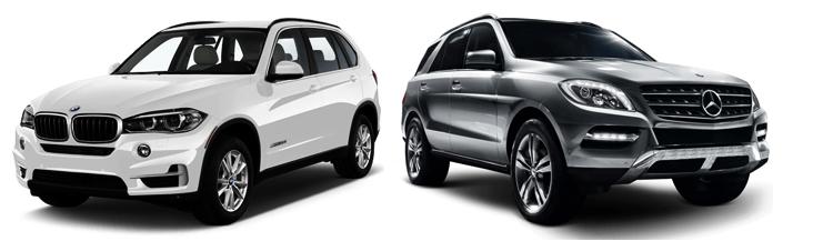 BMW X5 и Mercedes-Benz M